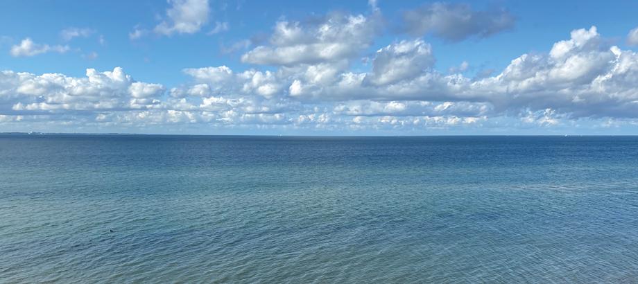 Blick vom Strand auf das Wasser